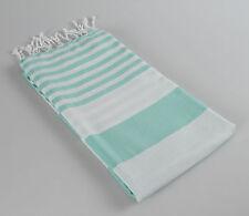 Ice Mint Blue Peshtemal Turkish Bath Sheet, Oversized Beach Towel, Large Fouta