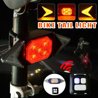 Signal Light Bike Bicycle Tail Light Remote Control Turn USB Chargeable 500mAh