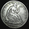 1861-S SEATED LIBERTY HALF DOLLAR...CIVIL WAR YR......MIN. BID .01 & NO RESERVE!