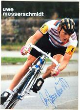 (C2/818) Cartoncino Ciclismo Uwe Messerschmidt Autografo Originale