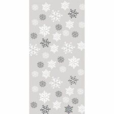 Large Snowflakes Cello Bags 20 Pack Winter Christmas Party Decoration