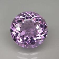 Gemas sueltas de amatista redonda de color principal púrpura