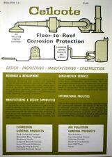 1969 Ceilcote Catalog Asbestos Coating Plastic Tank Towers Corrosion Protection