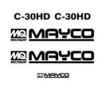 MAYCO C-30HD CONCRETE PUMP DECAL KIT STICKER SET 30 HD