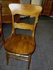 antique chair ash oak single refinished restored 1900's solid seat