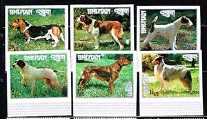 BHUTAN -  34 stamps    mint nice selection DOGS  -  no.2232