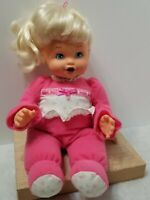 """RARE VINTAGE ADORABLE LIL SNIFFLES BABY DOLL 14"""" TALKS SEVERAL PHRASES & SNEEZES"""
