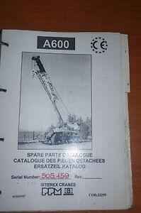 Terex PPM Crane Spare Parts Catalogue