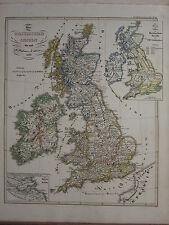 1846 SPRUNER ANTIQUE HISTORICAL MAP ~ BRITISH ISLES WILLIAM THE CONQUEROR 1066
