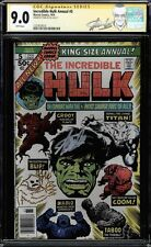 INCREDIBLE HULK ANNUAL #5 CGC 9.0 WHITE SS STAN LEE NEW LABEL CGC #1227818010
