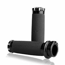 "Black CNC 1"" Handlebar Hand Grips For Harley Touring Sportster Dyna Softail^~^"