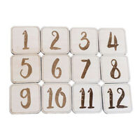 Birth Month Milestone Wood Card Set Baby Photography Memorial Number Prop Decor