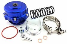 50MM BOV BLUE ALUMINUM 1-35PSI TURBO SUPERCHARGED LANCER EVO IMPREZA STI JDM