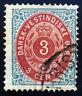 Danish West Indies. 1874. 3c. Blue/Carmine. SC# 6. VF Used