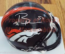 Denver Broncos Linebacker #54 BRANDON MARSHALL Signed Mini Helmet