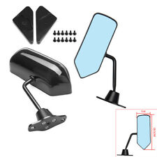 Universal F1 Style Carbon Fiber Look Side Mirrors Bracket Cafe Racer Retro Solid