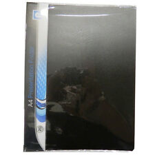 A4+ Black Plastic Presentation Folder - With 20 Clear Pockets - Size 310 x 235mm