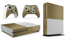 Xbox One S Metallic Gold Console Skin Decal Sticker  + 2 Controller Skins