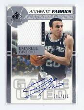 2003-04 UD SP Game Used Manu Ginobili NBA JERSEY AUTO #81/100 SAN ANTONIO SPURS