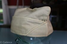 US WW2 Army Khaki Overseas Garrison Hat Cap Quartermaster 7 1/4 Tailor Made 97