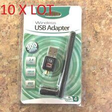 10X LOT Antenna 300n 300Mbps Mini Wireless USB Wifi Adapter Network 802.11n/g/b