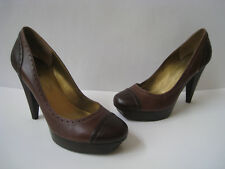 "GUESS BY MARCIANO LEATHER PUMP PLATFORM 5"" HEEL size US 10M HOT VINTAGE"