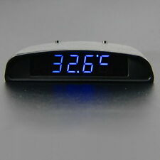 12V Digital LED Alarm Auto Electronic Clock Car Voltmeter Thermometer Calendar
