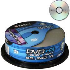 2 EMTEC DVD + R double couche 8x DL Double Vierge 8.5 Go xbox 360