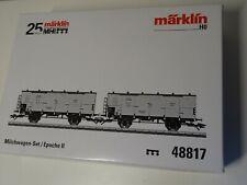 Märklin HO Art 48817 MHI packung Milchwagen-Set  2 Gü-Wagen  - Neuware/OVP