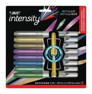 BIC Intensity Metallic Permanent Markers Fine Point Assorted Colors 1000331