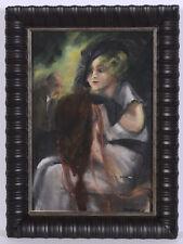 "Hedi Schick (1906-1999) ""Lady in a bar""; mixed media, 1930s"