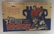 2001-02 Topps Heritage Factory Sealed Hobby Hockey Box