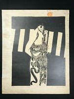 Engraving by Humberto Castro. Untitled. 1983. Original signed and dated. Cuba