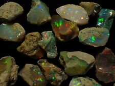 *** 50 Carats of Ethiopian Welo Opal Rough GOOD QUALITY GOOD PLAY OF COLOR ****
