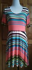 DressNStyle NWOT Branded Designer Multi-Colored DECREE Casual Formal Dress Large