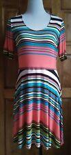 DressNStyle NWOT Branded Designer Multi-Colored DECREE Casual Formal Dress Large