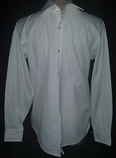 HUGO BOSS Mens Long Sleeve Button Front Shirt Sz 15-32 Medium Pink Purple Stripe