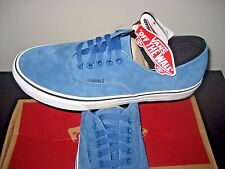 Vans Authentic Decon Mens Blue Ashes Suede Blue White Skate boat shoes Size 9.5