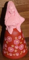 VTG Avon Moonwind Cologne Bottle - Belles of the World Red & Pink Woman Figurine