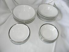 grindley stafforshire ironston white satin  21 bowls 11-7 inch  10-5 inch