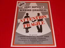 COLL.J. LE BOURHIS AFFICHE Comédie musicale GIRAUDEAU DUPEREY 1978 La Rochelle