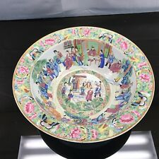 Magnificent Antique Chinese Qing Rose Medallion Basin Bowl Fine Quality