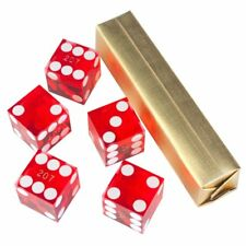 19mm AAA Grade Casino Craps Dice with Matching Serial Numbers (Set of 5, Red)