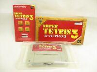 SUPER TETRIS 3 Item ref/ccc Super Famicom Nintendo Japan Game sf