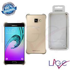 Custodia per Samsung Galaxy A5 2016 A510 Clear Cover Originale Trasparente / Oro