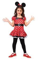 Disfraz ratoncita niña raton rojo lunares infantil barato
