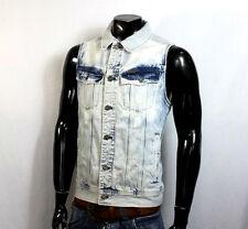 G-Star Raw slim tailor Denim Jeans chaleco chaqueta Biker transitorio chaqueta azul XL