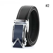 Men's Genuine Leather Automatic Buckle Black Waist Strap Belt Waistband Gifts