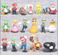 18pcs Super Mario Bros Action Figure Doll Figurine Toy Model Doll Gift US Seller