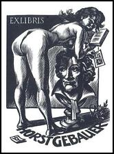 Frank Ivo Van Damme 1992 Exlibris X2 Erotic Erotik Nude Nudo Woman Goethe s404